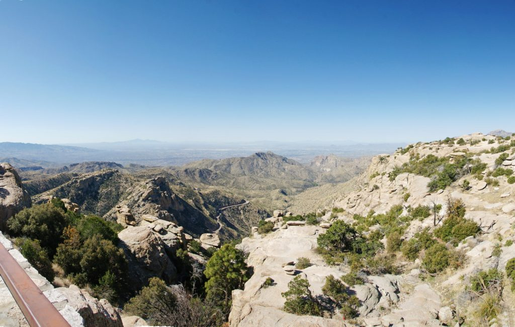 The view south from a viewing area.
