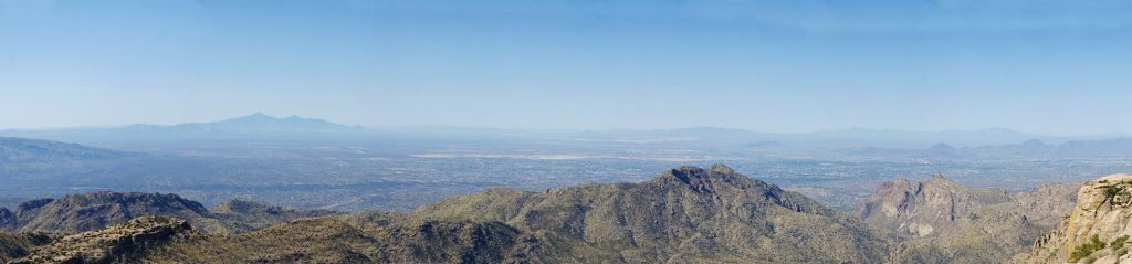 A panoramic view from Mt. Lemmon Scenic Byway.