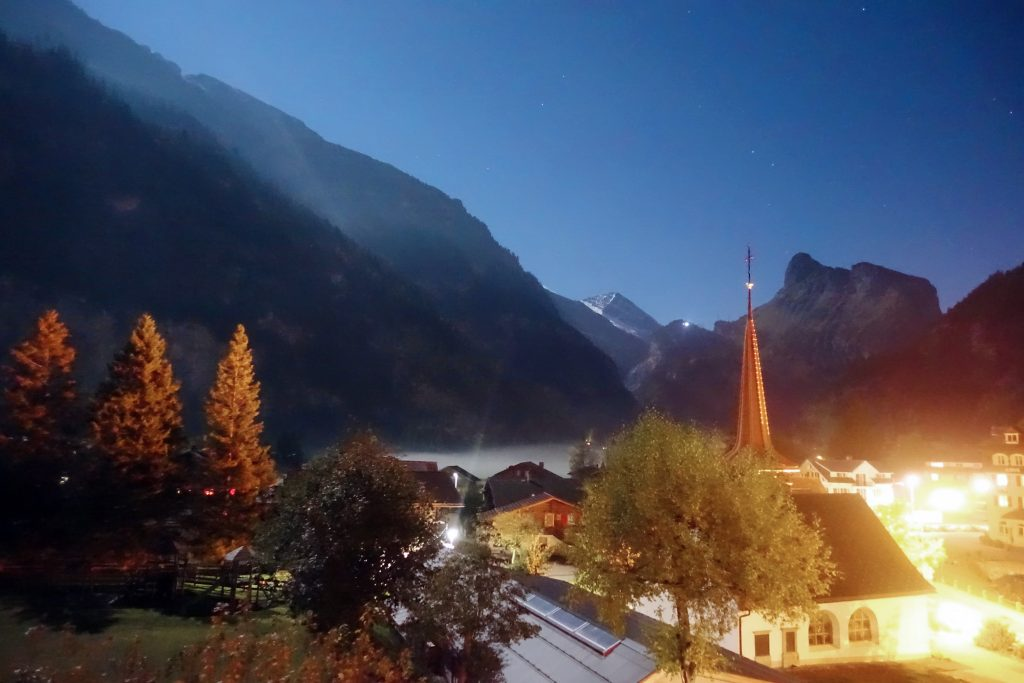 A picture-perfect evening in Kandersteg.