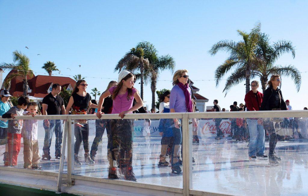 Ice Skate in Winter at Hotel del Coronado.