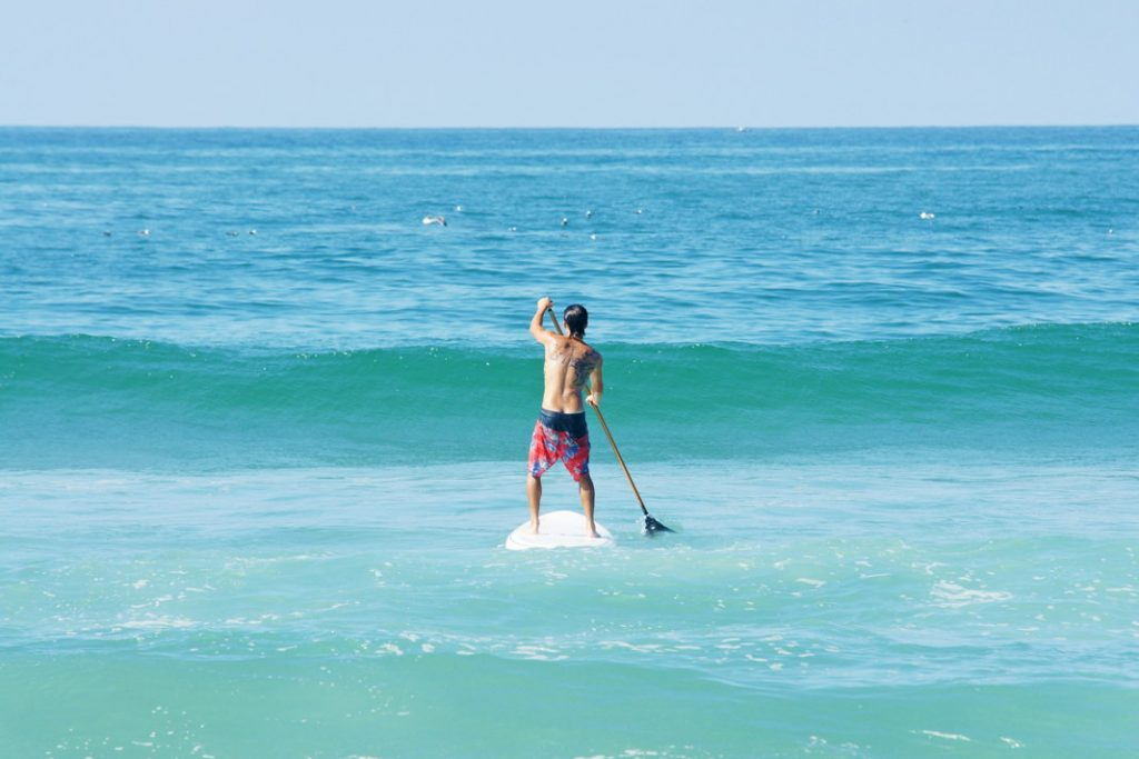 Paddleboard by yourself.