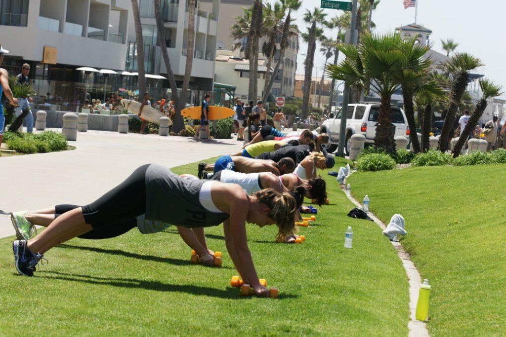 Push up exercises.