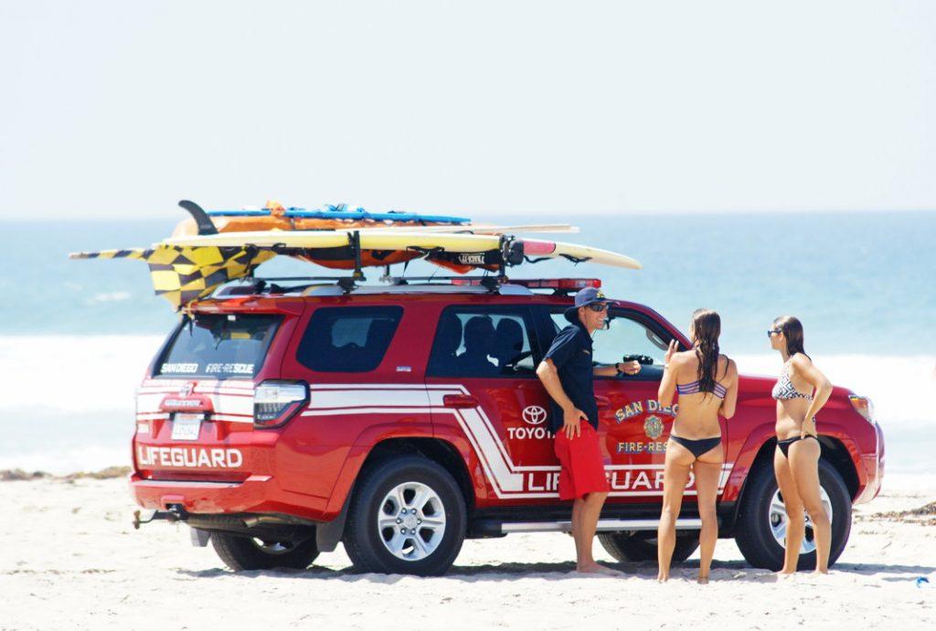 Talk to the lifeguard.