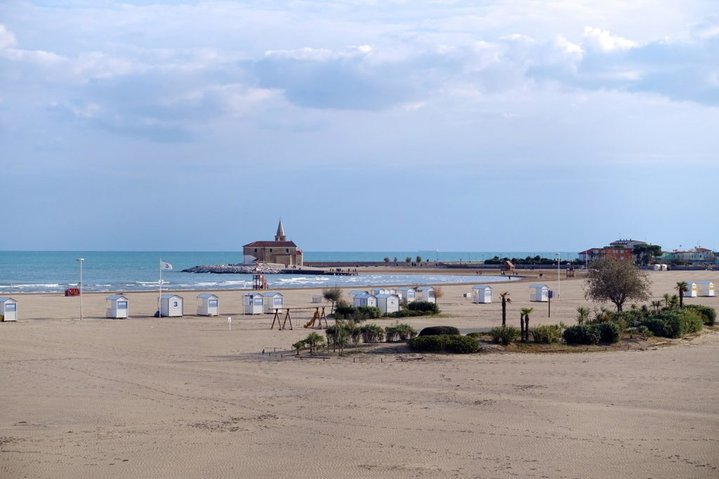 The beach at Caorle.