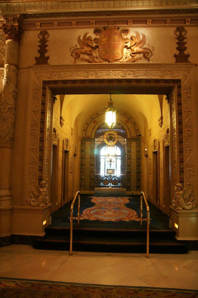 The elevator lobby.