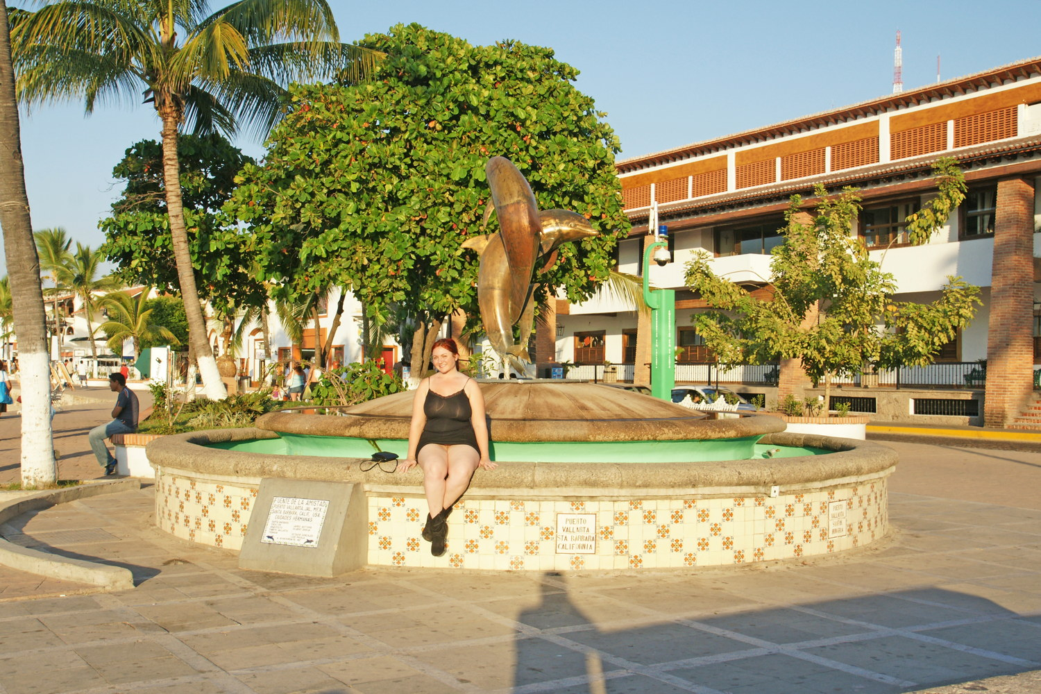 The Friendship Fountain, aka the Dancing Dolphins Fountain.