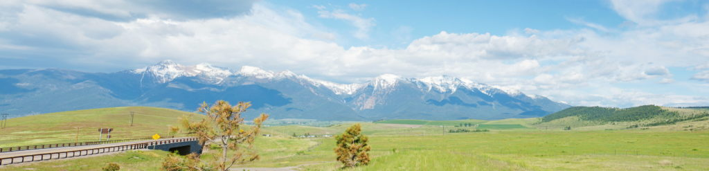 A panorama of Montana east of Missoula, facing east.