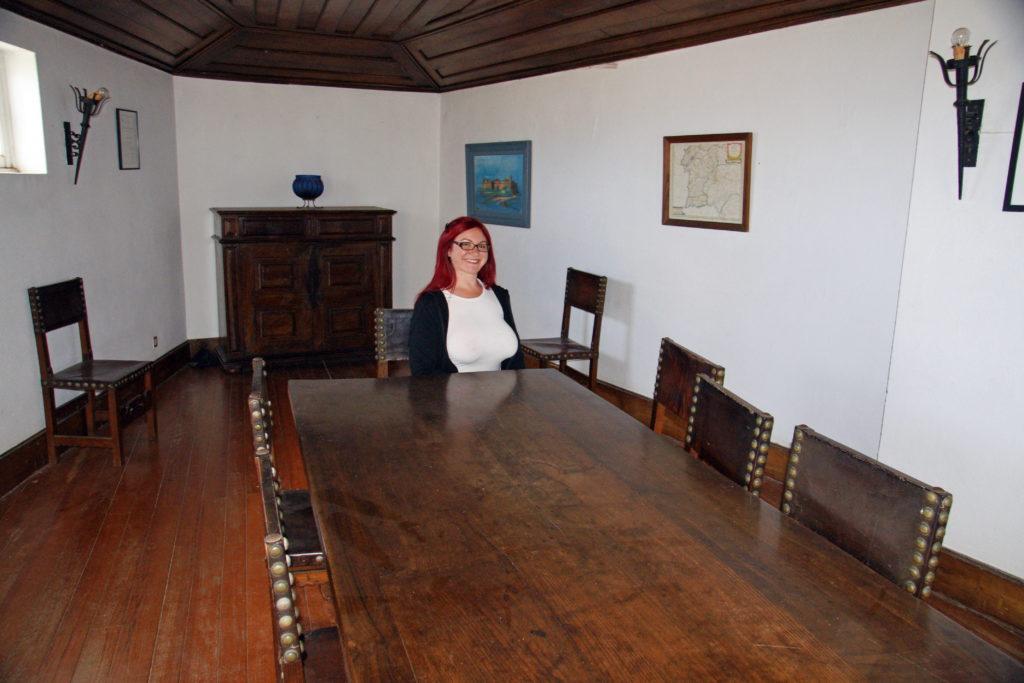 Forte de São Francisco do Queijo inner room.