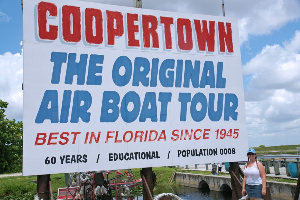 Coopertown, Florida.
