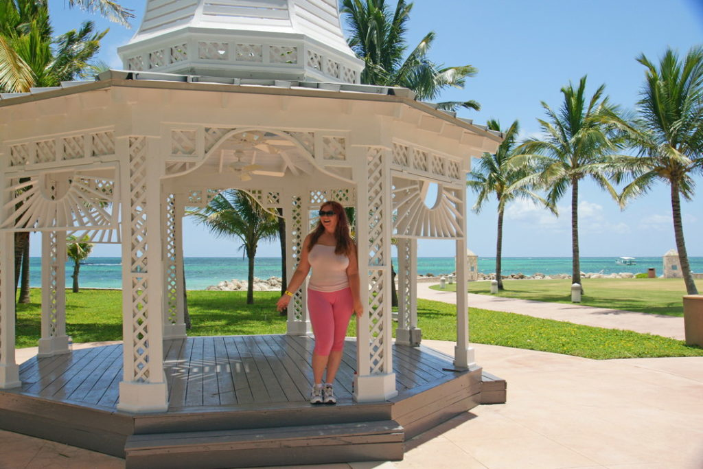 A beautiful gazebo at the Grand Lucayan hotel.