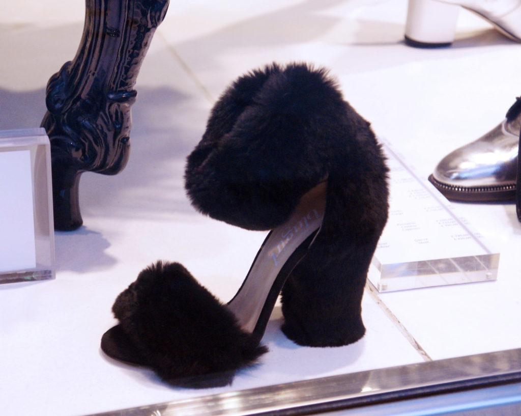 Fur-clad high heels.