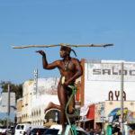 King Solomon, the Snake Charmer, at Venice Beach, California