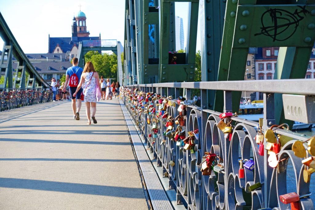The love locks of Eiserner Steg.