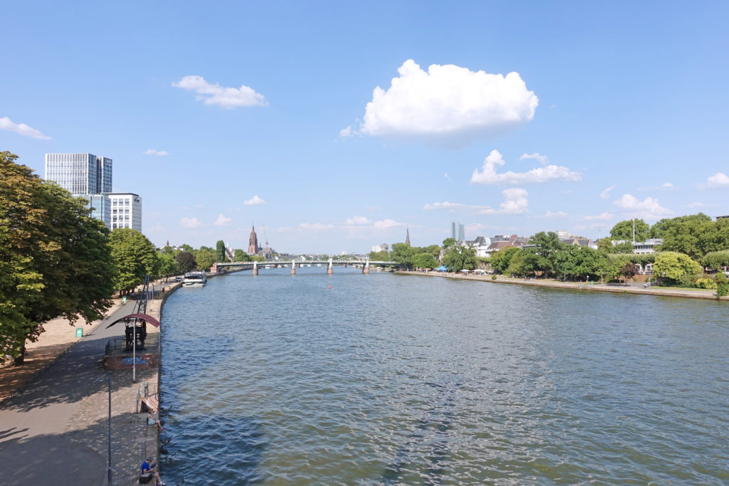 The Main River in Frankfurt.