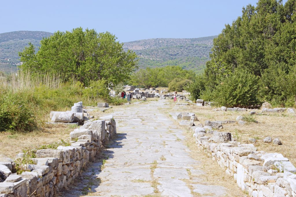 The end of the Sacred Road, leading into the sanctuary.
