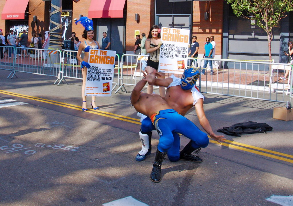 In Mexican wrestling, all moves are legal.