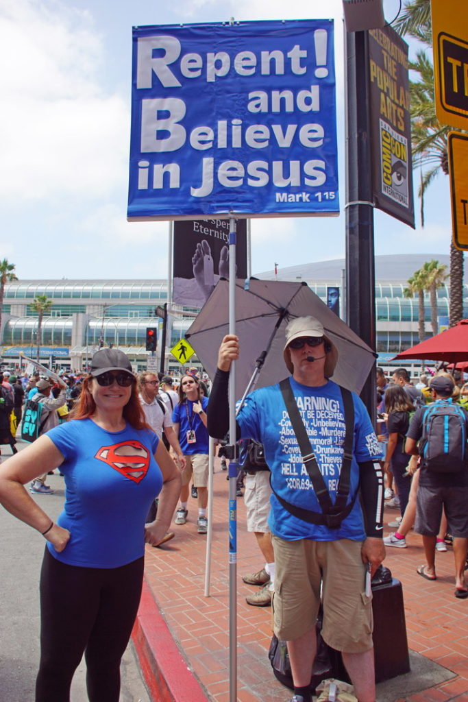 There are people who see things differently at Comic Con.