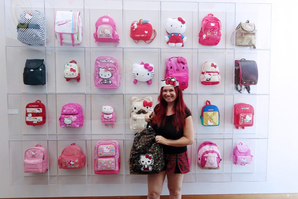 Ha ha!  We already own a Hello Kitty backpack!