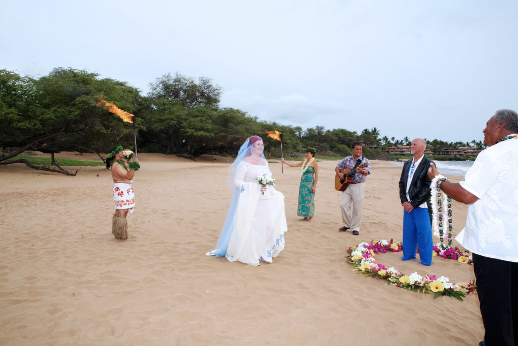 Our own private Hawaiian wedding ceremony.