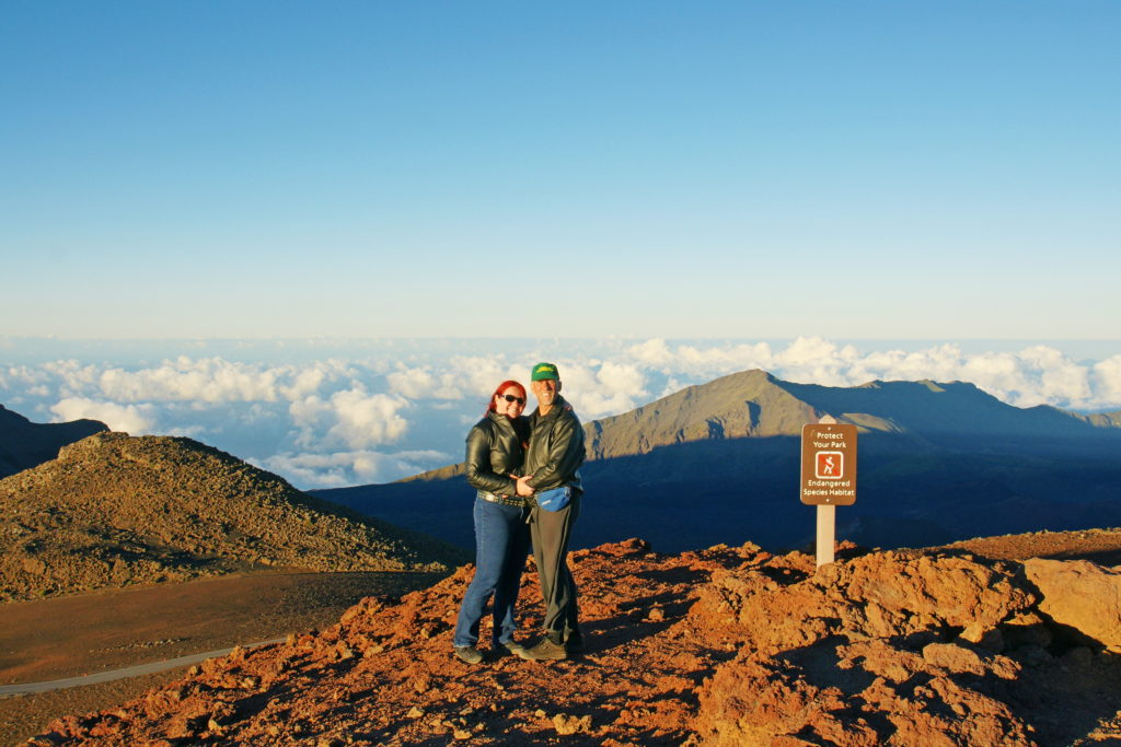 Atop Haleakalā just before sunset.
