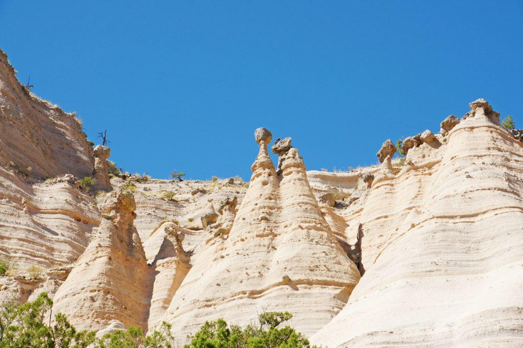 An abundance of tent rocks greets us.
