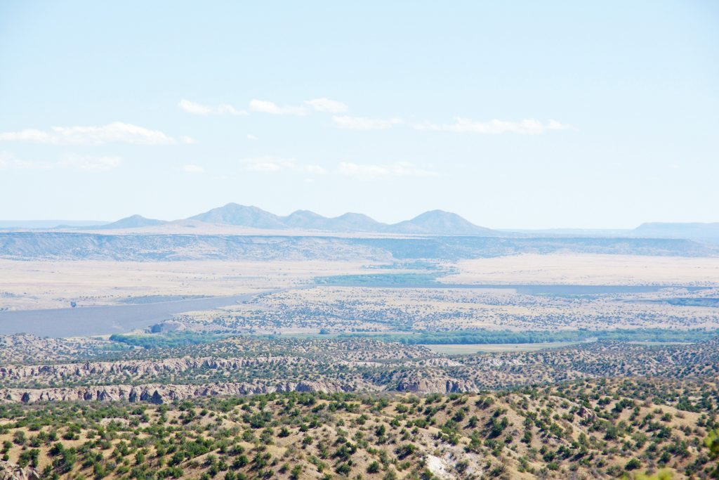 The view from the Pajarito Plateau – beautiful.