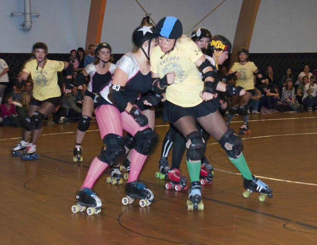 Blocking, the roller derby way.