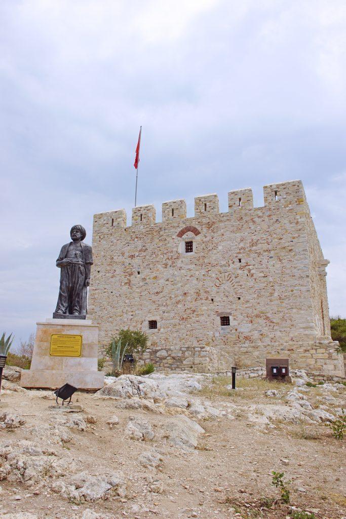 A larger-than-life statue of Barbaros Hayreddin Pasha gazes seaward.