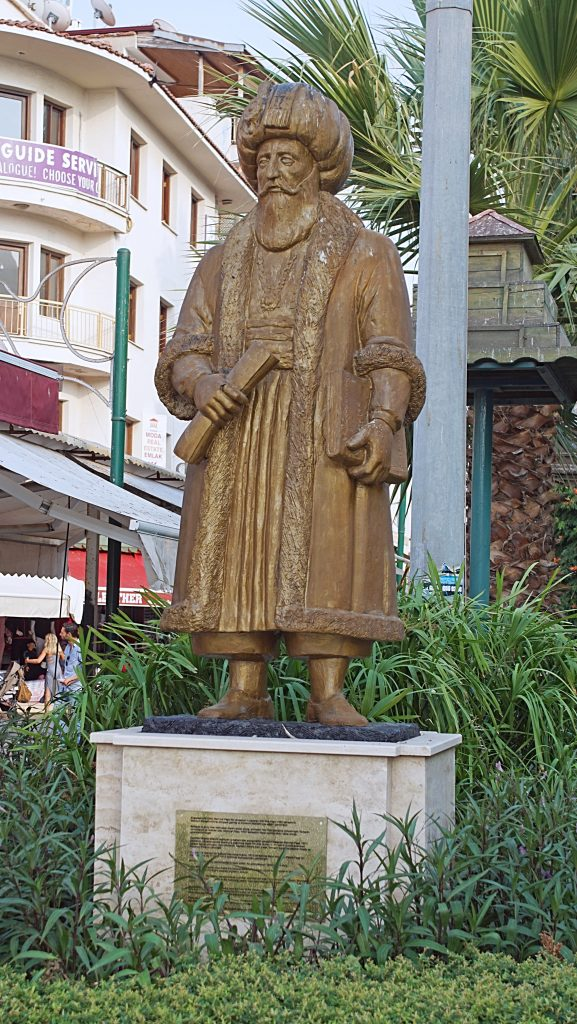 Mehmed Pasha, known as the Ox, the Black, and the Slavebreaker, is honored in Kuşadası.