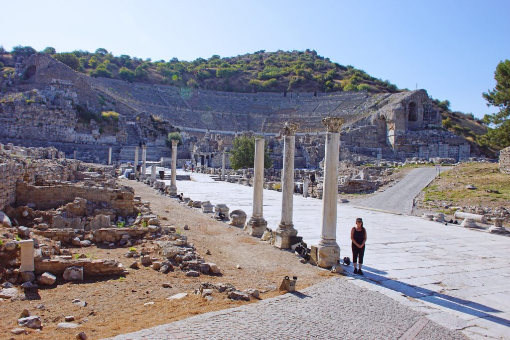 The Great Theater of Ephesus, as seen from Arcadian street.
