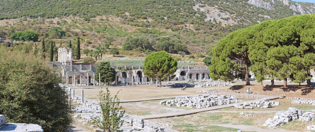 The Commercial Agora, just to the south of the Great Theatre.