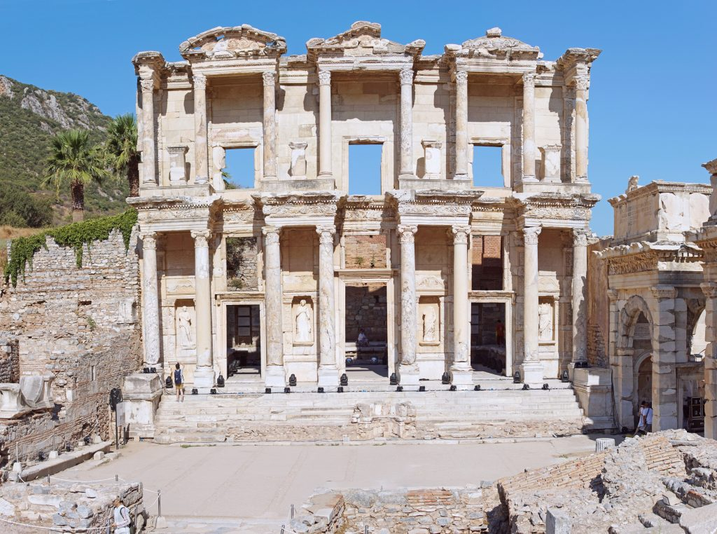 The famous Celsus Library.  Be careful where you step...
