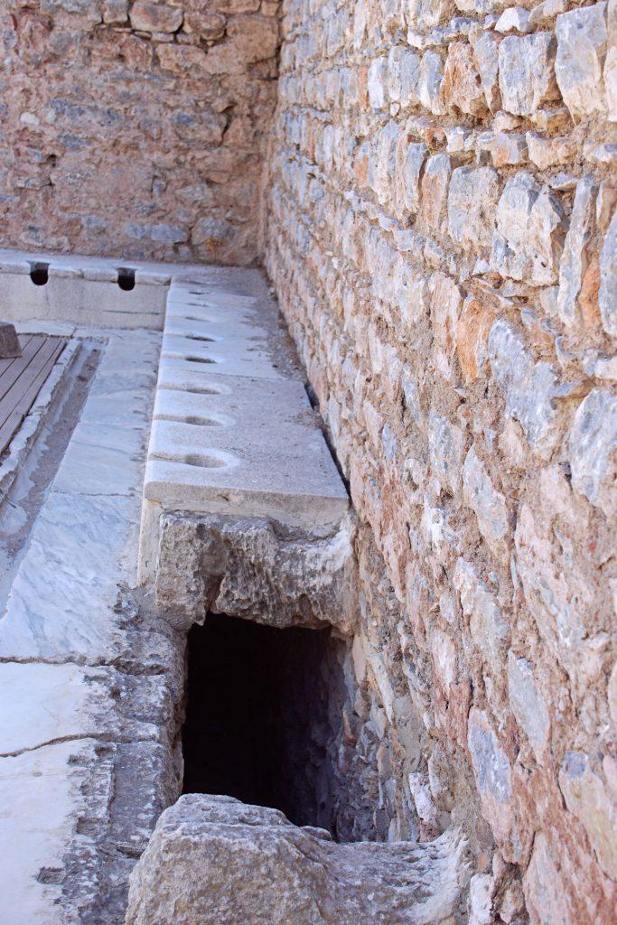 Ancient ideas of hygiene, as seen in Ephesus.