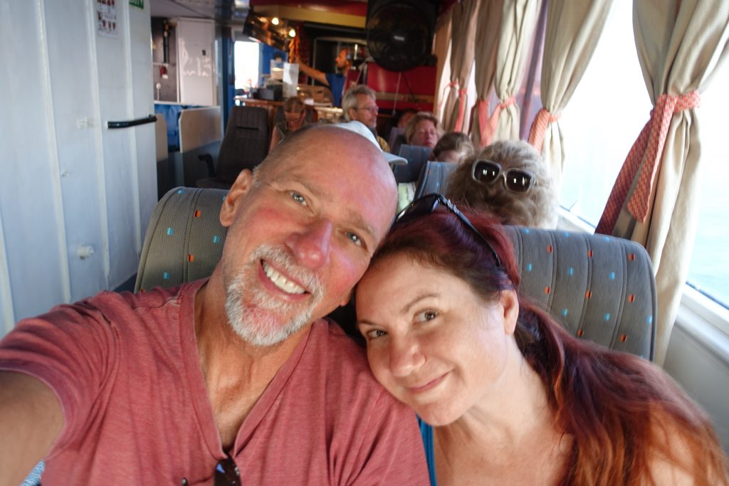 Yours truly and Chewbacca (travelling incognito) enjoying the ride.