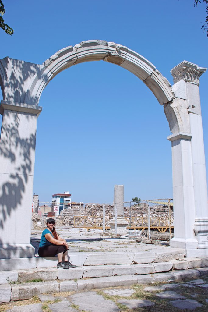 The arch of the West Gate of the Agora.