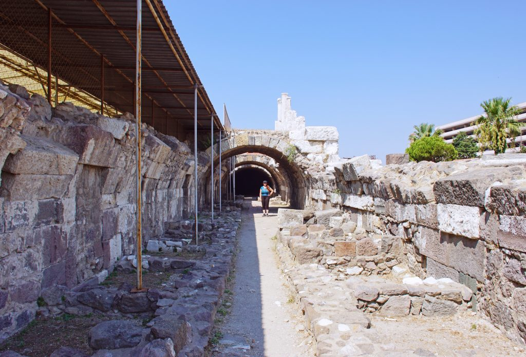 Some of the ongoing restoration being done at the Agora.