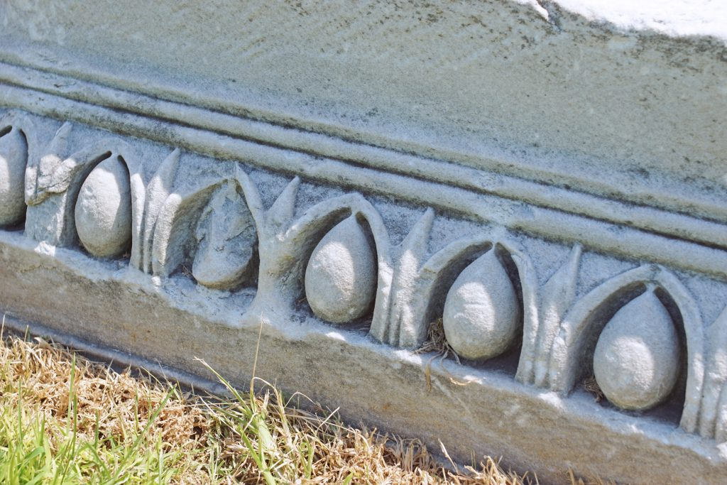 An example of the detail of the grave stones.